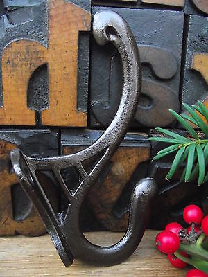 1 Vintage Style Cast Iron Coat Hook old art nouveau victorian edwardian style..