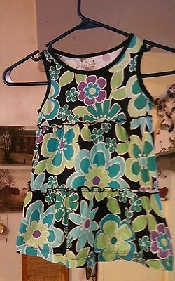 Jumping Beans Size 5 Girls Tank Top EUC Floral