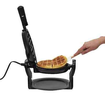 Belgian Waffle Maker Commercial Double Rotating Breakfast Heavy Iron Kitchen New