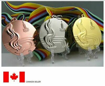 Moscow 1980 Olympic Medals Set with Ribbons !!!