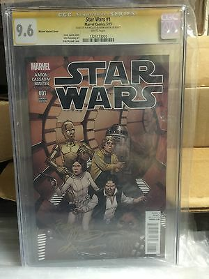 STAR WARS (2015) #1 CGC 9.6 NM+ Bob McLeod Comic Book SIGNED Variant Cover