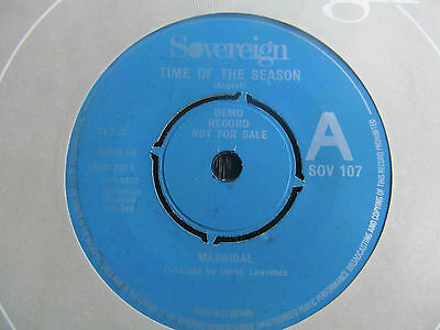 Madrigal-Time of the Season/Tapestry RARE DEMO