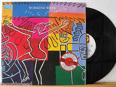 ★★ LP - WORKING WEEK - Fire In The Mountain - GER Virgin 1989 - Record in NM