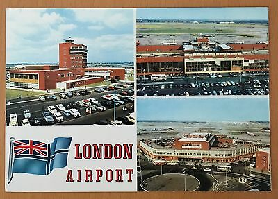 Old Picture Postcard of London Airport (now called Heathrow)