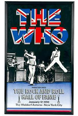 """THE WHO ROCK AND ROLL WALDORF POSTER 24""""x36"""" MUSIC CONCERT NEW SIDE SHEET PM240"""