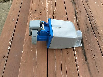 HUBBELL 460R9W IEC Pin and Sleeve Receptacle with back box