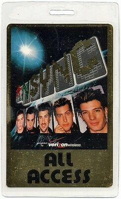 N Sync authentic 2001 tour Laminated Backstage Pass