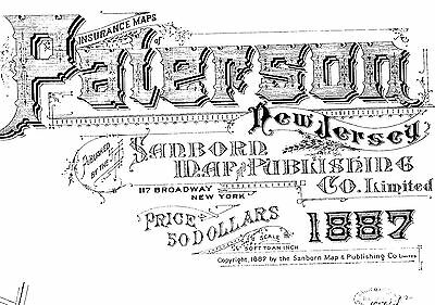 Paterson, New Jersey~Sanborn Map©sheets with 499 map sheets on a CD~1887 to 1915