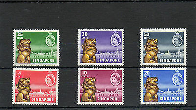Sg 53/sg 58 Singapore Never Hinged Mint Set Complete