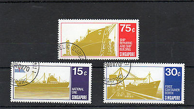 Sg 143/sg 145 Singapore Used Set Complete Cat £15
