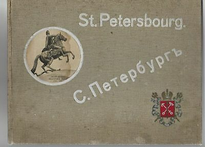 Imp. Russia, St.Petersbourg, ant. photo book, text in German, Russian & French