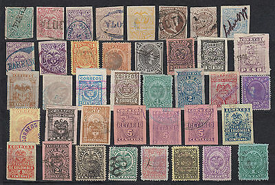 Kolombia, Kolumbien 1868 - 1935, used, mint and mint-hinged, large collection!