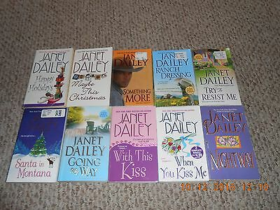 Lot of 10 Paperback Books By Janet Dailey