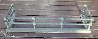 Vtg ANTIQUE 1940s FEDERAL  BRASS FIREPLACE FENDER surround guard heavy Patina