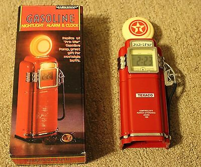 Texaco Branded Gasoline Pump Night Light & Alarm Clock Marksman PF Product 1992