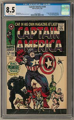Captain America #100 CGC 8.5 (OW) Premiere Issue Black Panther Appearance