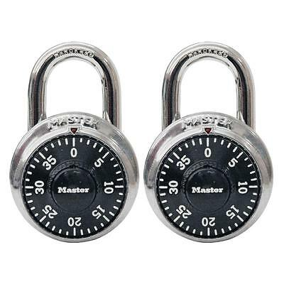 MASTER LOCK Preset Combination Dial Padlock (2 in a pack)