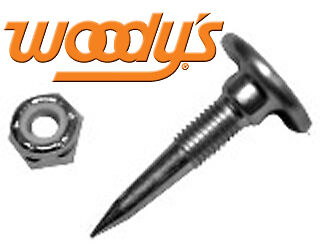 """Woodys 1"""" 30° ELIMINATOR STEEL TRACTION MASTER Push through track studs GEP-1000"""