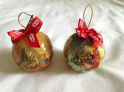 Loôney Tunes Bugs Bunny & Wile E. Coyote Christmas Ornaments Warner Bros.