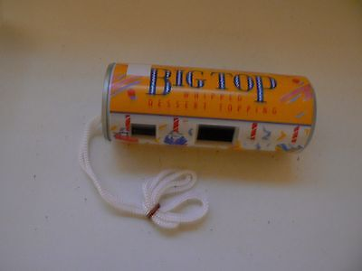 COLLECTORS VINTAGE NOVELTY CAMERA - Anchor BIG TOP whipped dessert topping