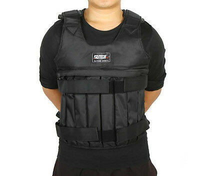44LB 20KG Adjustable Workout Weight Weighted Vest Exercise Training Fitness