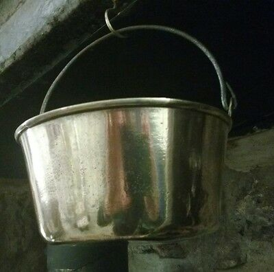 Vintage Small Brass Jam/Preserve Pan with Swing Handle