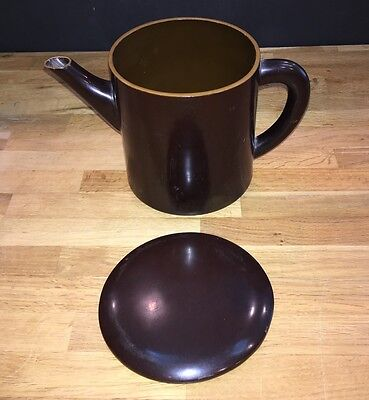 Vintage Laquered Wood Japanese Broth Pot With Lid ~