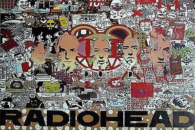 """RADIOHEAD THE POSTER 24""""x36"""" MUSIC ROCK POP CONCERT HEAVY METAL SIDE SHEET PM245"""
