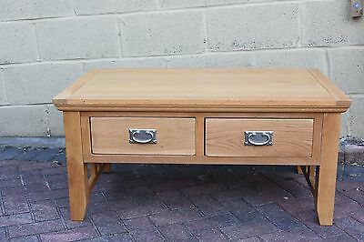 Solid wood, Oak with pine internal drawers, coffee table