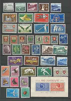 switzerland lot of 43 stamps mostly mint never hinged incl. bloc