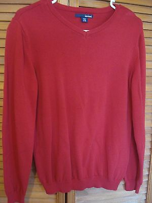 Basic Editions Boys Red Pullover Sweater Size 14/16