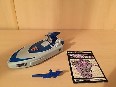 Vintage 1986 G1 Transformers Scourge - 100% COMPLETE & Instructions