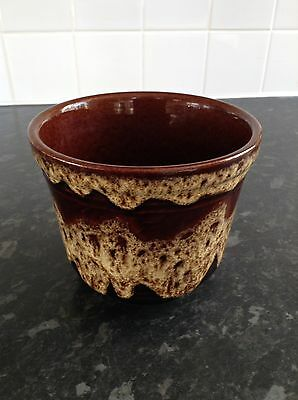 West German Bay Pottery Brown Lava Planter