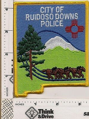 Ruiduso Downs  City Police. State Shape.New Mexico.
