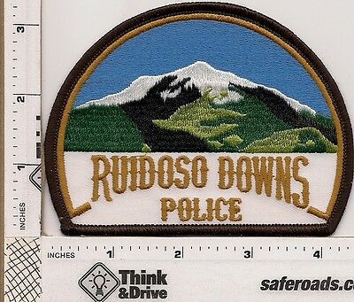 Ruiduso Downs  Police. Curved Shape.New Mexico.