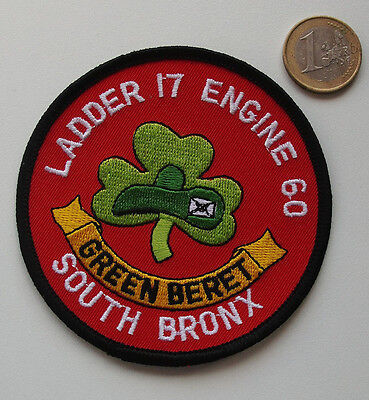 FDNY - Patch - Ladder-17/ Engine- 60 - GREEN BERET