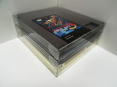 10 NES Cartridge Protectors  New Crystal Clear Cases Sleeves  Nintendo Carts Box