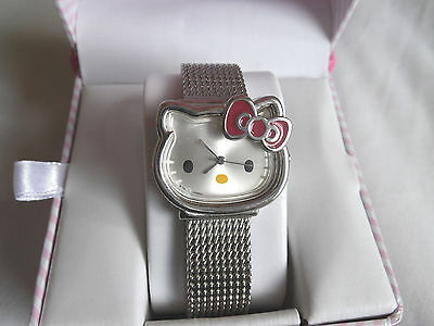 Hello Kitty Watch in Original Box HK695D SIL-3419 Stainless Steel Needs Battery