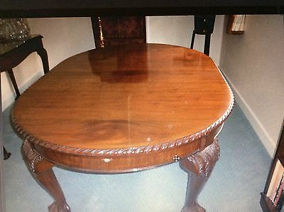 Edwardian Dining Table & Serving Table And Chairs