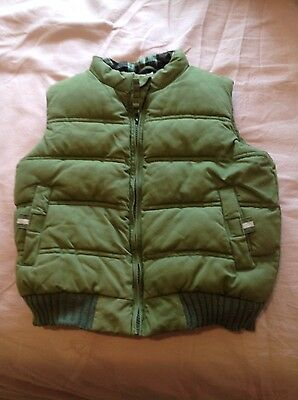 Childs green gilet age 5-6 yrs