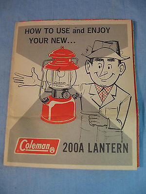 Coleman 200A Lantern Manual Only