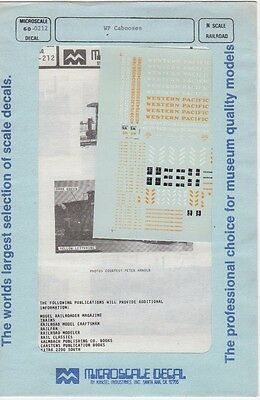 WP Cabooses N Scale Decal 60-0212