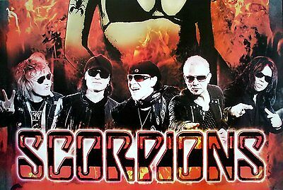 """SCORPIONS THE POSTER 24""""x36"""" MUSIC BAND ROCK POP CONCERT SIDE WALL SHEET PM252"""