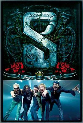 "SCORPIONS THE POSTER 24""x36"" MUSIC BAND ROCK POP CONCERT SIDE WALL SHEET PM253"