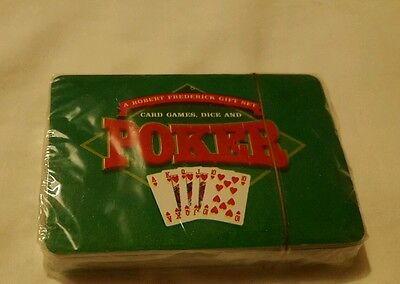 BRAND NEW UNOPENED A Robert Frederick Gift Set Poker Cards Only.