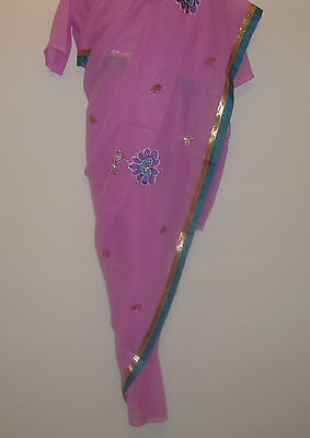 Children's Bollywood designer sarees with matching blouse for any party