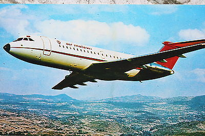AK Airliner Postcard AIR MALAWI Bac-1-11 airline issue