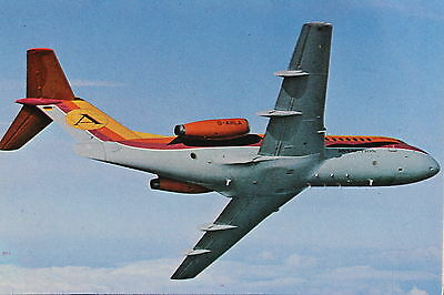 AK Airliner Postcard AVIACTION F-28
