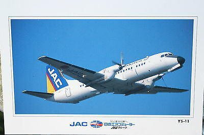 AK Airliner Postcard JAPAN AIR COMMUTER JAS YS-11 airline issue