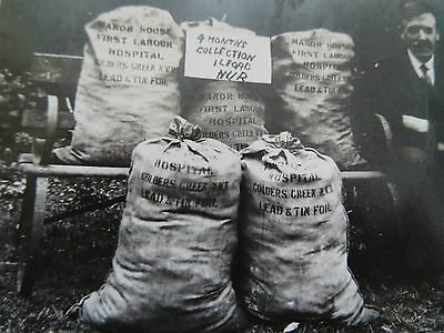 Ww1 Photo Of 4 Months Lead & Tin Foil Collection By Ilford Nur